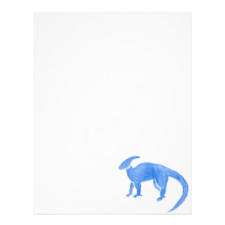 Blue Hadrosaur Letterhead