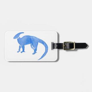 Blue Hadrosaur Luggage Tag