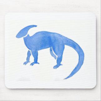 Blue Hadrosaur Mouse Pad