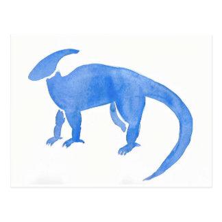 Blue Hadrosaur Postcard