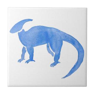 Blue Hadrosaur Tile