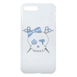 Blue Hair Accessory Skull -Scissor Crossbones #2 iPhone 7 Plus Case