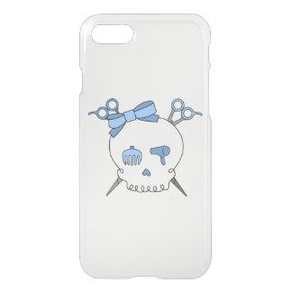 Blue Hair Accessory Skull -Scissor Crossbones iPhone 7 Case