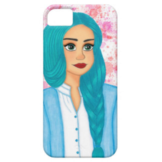 Blue Hair Case For The iPhone 5