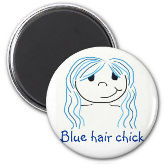 Blue hair chick magnet