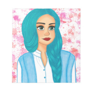 Blue Hair Notepad