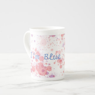 Blue hair tea cup