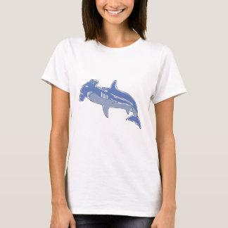 Blue Hammerhead womens tshirt