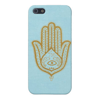 Blue Hamsa iPhone 5 Cover