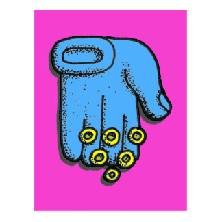 Blue Hand Blessings Postcard