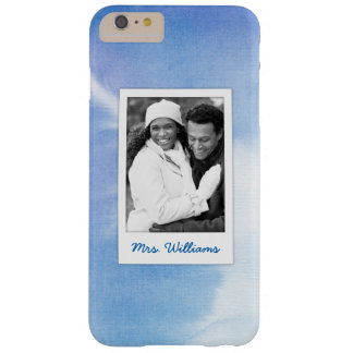 Blue Hand Painted Watercolor | Add Photo Barely There iPhone 6 Plus Case