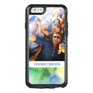 Blue Hand Painted Watercolor | Add Photo OtterBox iPhone 6/6s Case