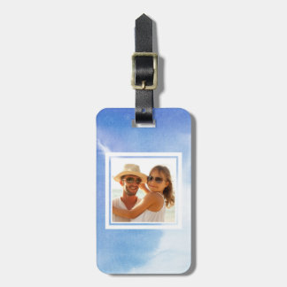 Blue Hand Painted Watercolor | Add your Name Luggage Tag