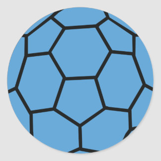 blue handball ball classic round sticker