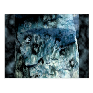 Blue Hands Postcard