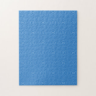 Blue Hannakah Squiggly Squares Jigsaw Puzzle