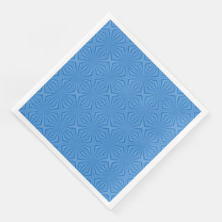 Blue Hannakah Squiggly Squares Paper Dinner Napkin
