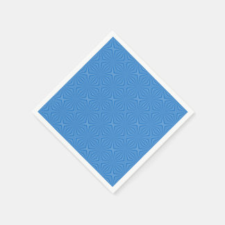Blue Hannakah Squiggly Squares Paper Napkins