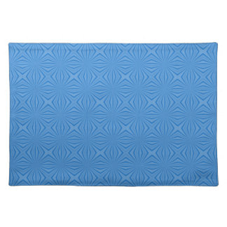 Blue Hannakah Squiggly Squares Placemat