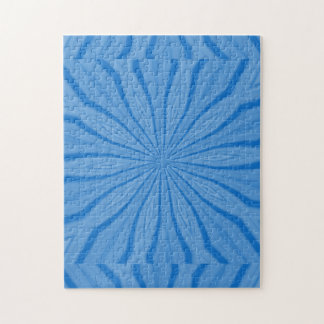 Blue Hanukkah Streaks Jigsaw Puzzle
