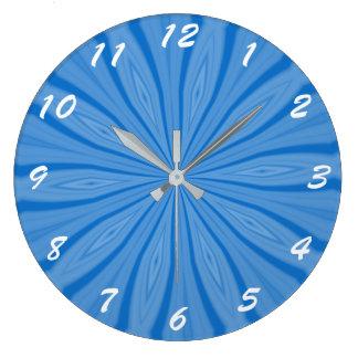 Blue Hanukkah Streaks Large Clock