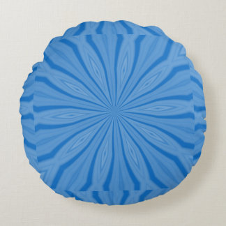 Blue Hanukkah Streaks Round Pillow