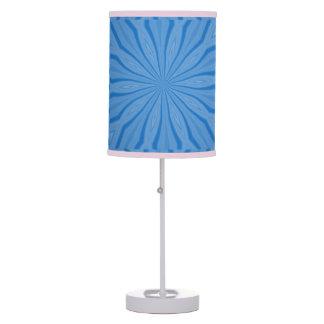 Blue Hanukkah Streaks Table Lamp