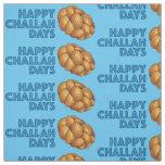 Blue Happy Challah Days Hanukkah Chanukah Fabric