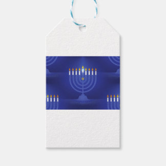 blue happy hannukah pack of gift tags