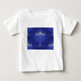 blue happy hanukkah baby T-Shirt