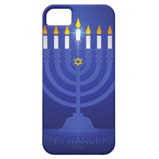 blue happy hanukkah iPhone 5 cases