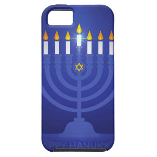 blue happy hanukkah iPhone 5 cover