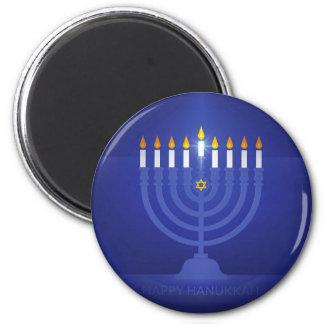 blue happy hanukkah magnet