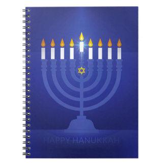 blue happy hanukkah notebooks
