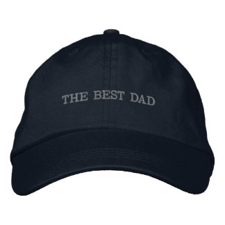 BLUE HAT (THE BEST DAD) EMBROIDERED BASEBALL CAPS