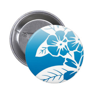Blue Hawaii 2 Inch Round Button