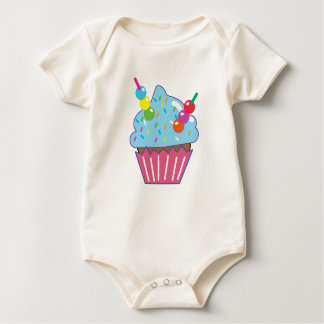 Blue Hawaii CUPCAKE Baby Bodysuit