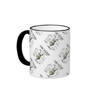 Blue Hawaii Drink Recipe Design Ringer Coffee Mug
