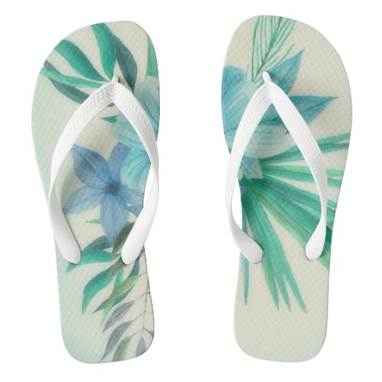 Blue Hawaii Flip Flops