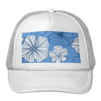 Blue Hawaiian Floral Hat