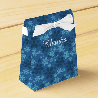 Blue Hawaiian Flowers Tent Favor Box