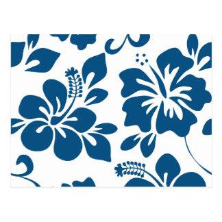 Blue Hawaiian Hibiscus Postcard