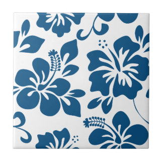 Blue Hawaiian Hibiscus Tile