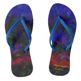 Blue Haze Sunset Flip Flops