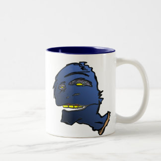 Blue Head Two-Tone Coffee Mug