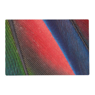 Blue-headed Pionus feathers Laminated Placemat