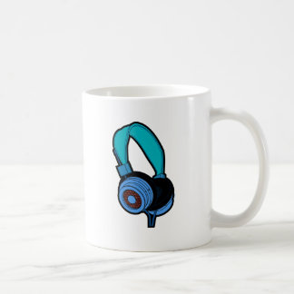 Blue Headphone Coffee Mug