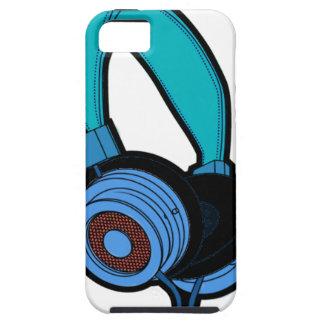 Blue Headphone iPhone 5 Cases