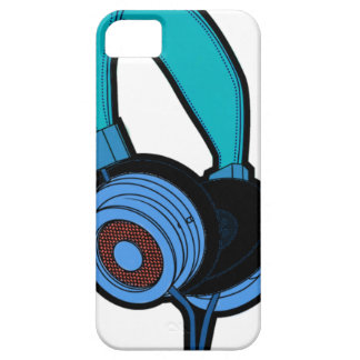 Blue Headphone iPhone 5 Cover