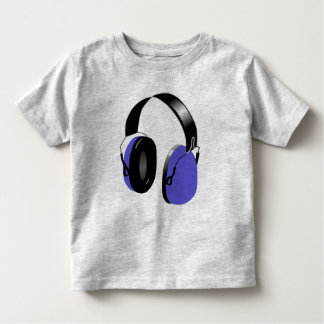 BLUE HEADPHONES DESIGN Toddler T-Shirt